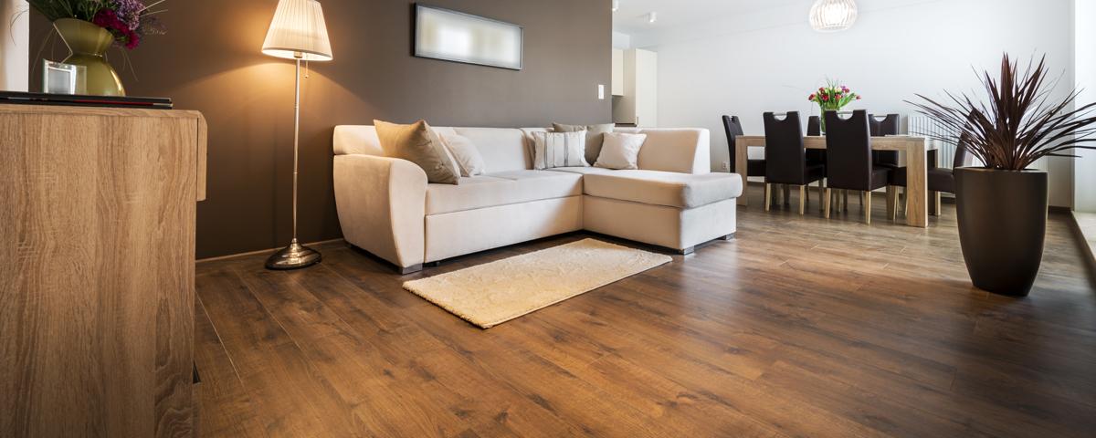 Room scene using flooring product