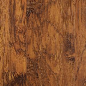 An assembled section of vinyl flooring